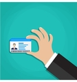 Id cards in hand vector image