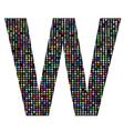 multicolor letter W vector image