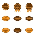 Set of retro chocolate labels vector image