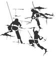 Siluetu climbing vector image