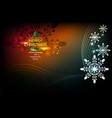 snowflake dark background vector image