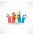 Thre colored gifts vector image