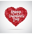 Valentine day heart Decorative background with vector image
