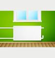 white realistic heating radiator vector image
