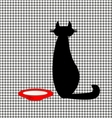 abstract cat and milk vector image vector image