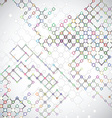 Abstract background with connecting lattices vector image