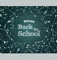 back to school green background vector image