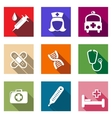 Set of flat healthcare and medical icons vector image vector image