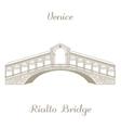 Rialto Bridge vector image
