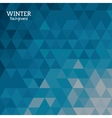 Winter background design vector image