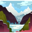 landscape with huge white mountains vector image
