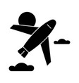 airplane icon sign o vector image