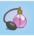 Bottle perfume pop art style vector image