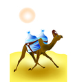 Camel rescuer vector image
