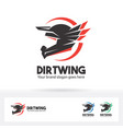 dirt wing helmet motorcycle logo vector image