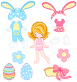 Easter dress up vector image