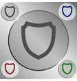 Flat paper cut style icon of a shield vector image