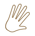 hand palm human symbol image vector image