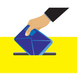 Hand putting an envelope in the mailbox vector image