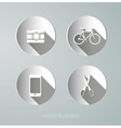 paper hipster icons vector image