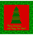christmas card 5 vector image