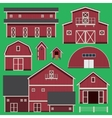 Buildings set with farm vector image