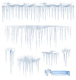 Icicles set vector image