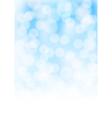 blue bokeh background vector image vector image
