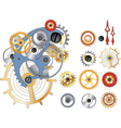 Gears and the mechanism vector image