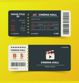 modern cinema movie tickets design vector image