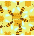 pattern with bees and honeycombs vector image
