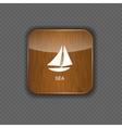 Sea wood application icons vector image