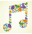 Spring music background vector image
