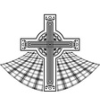 stencil of scottish celtic cross vector image