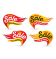 End of season hot fire sale labels vector image