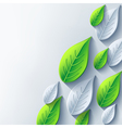 Abstract conceptual background with 3d leaf vector image vector image