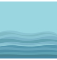 Sea Ocean water with blue waves and sky background vector image