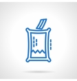 Voting box blue line icon vector image