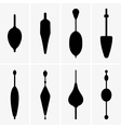 Fishing buoys vector image
