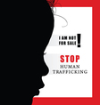 child with humain trafficking sign vector image