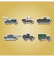 color icons with army vehicle vector image