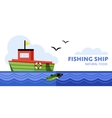 Fishing boat vector image