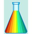 Laboratory flask icon vector image