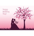 Silhouettes of the bride and groom vector image