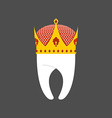 Tooth Crown White pure Royal logo for dent vector image