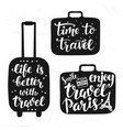 travel label set with hand written lettering vector image