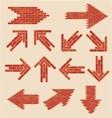 brick arrows vector image vector image