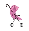 cute baby carriage with pink soft top vector image