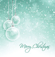 snowy christmas decorations 0510 vector image