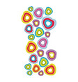 colored hearts background icon vector image
